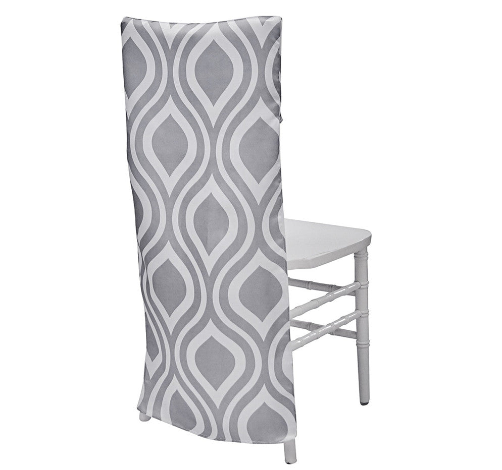 Groovy Chair Back - Silver/White