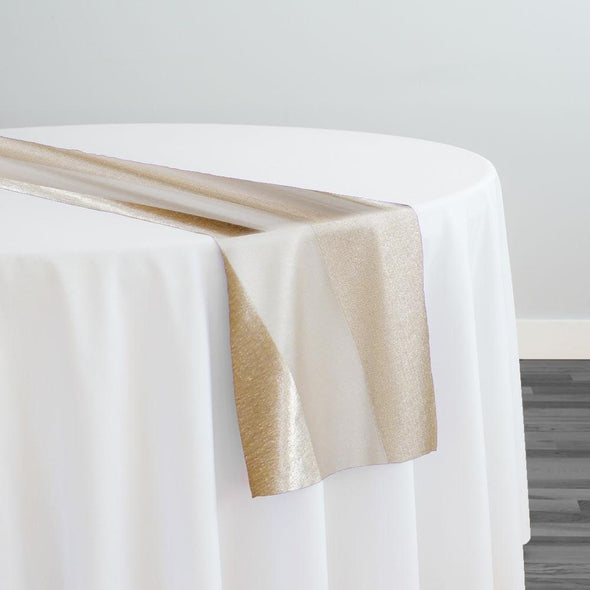 Velvet Stripe Table Runner in Champagne