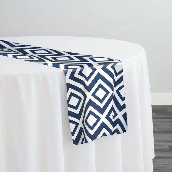 Paragon Print (Lamour) Table Runner in Navy