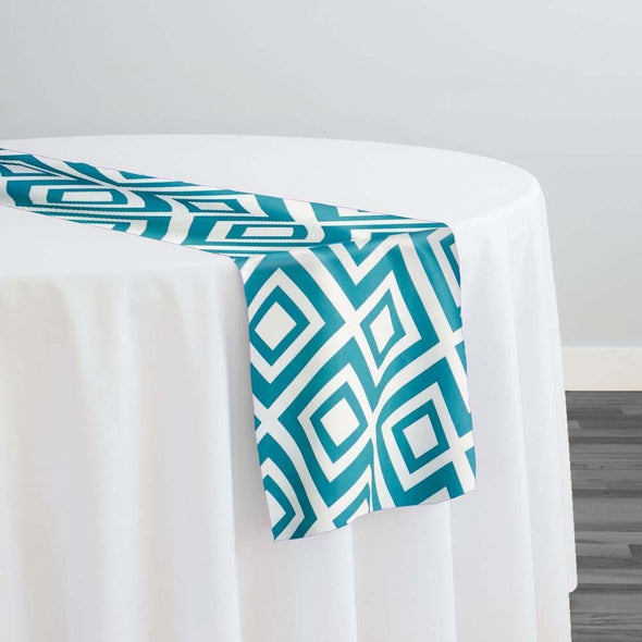 Paragon Print (Lamour) Table Runner in Teal