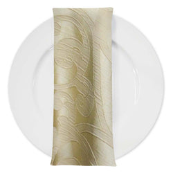 Classic Jacquard Table Napkin in Champagne