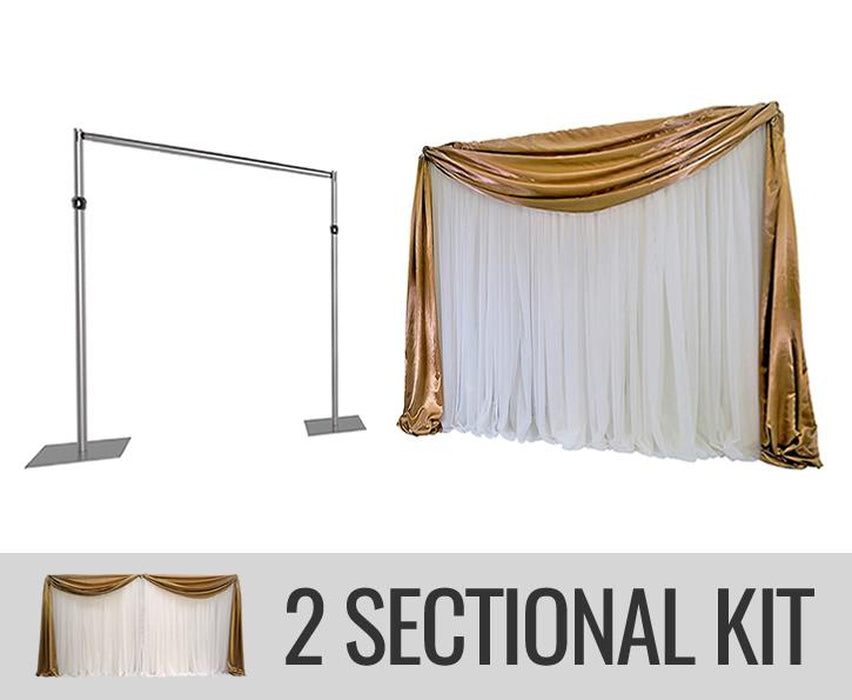 ECONOMY BACKDROP KIT - 2 SECTION