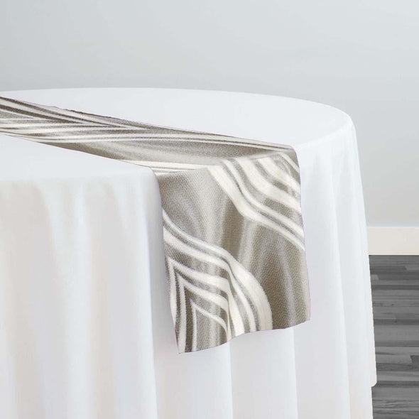 Eclipse Jacquard (Reversible) Table Runner in Silver