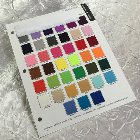 Spandex Premium 80/20 Color Card