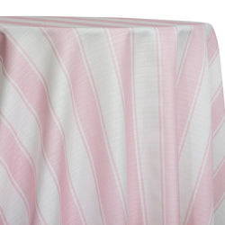 Cabana Stripe Table Linen in Pink
