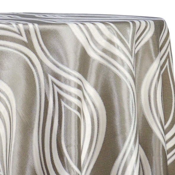 Eclipse Jacquard (Reversible) Table Linen in Silver