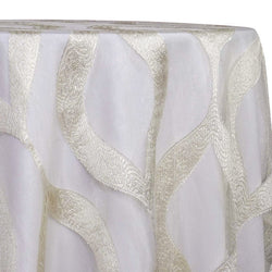Tabriz Organza Table Linen in Ivory