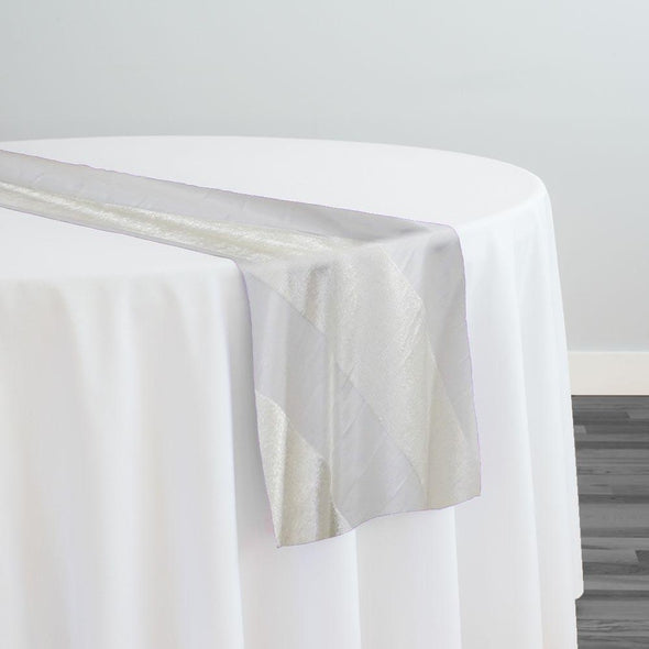 Velvet Stripe Table Runner in Ivory