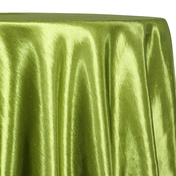 Shantung Satin (Reversible) Table Linen in Willow Green