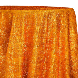 String Metallic Table Linen in Orange