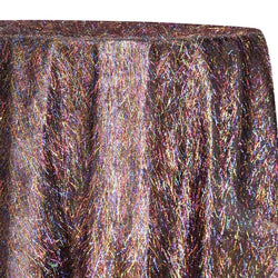 String Metallic Table Linen in Rainbow