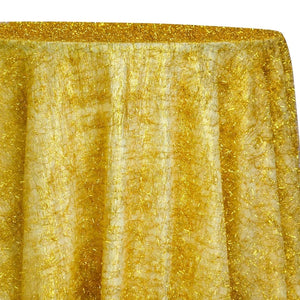 String Metallic Table Linen in Gold