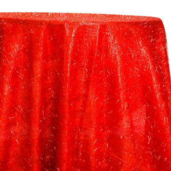 String Metallic Table Linen in Red
