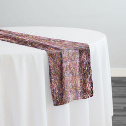 String Metallic Table Runner in Rainbow