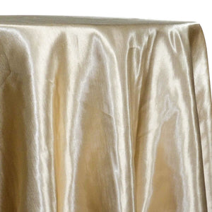 Shantung Satin (Reversible) Table Linen in Champagne