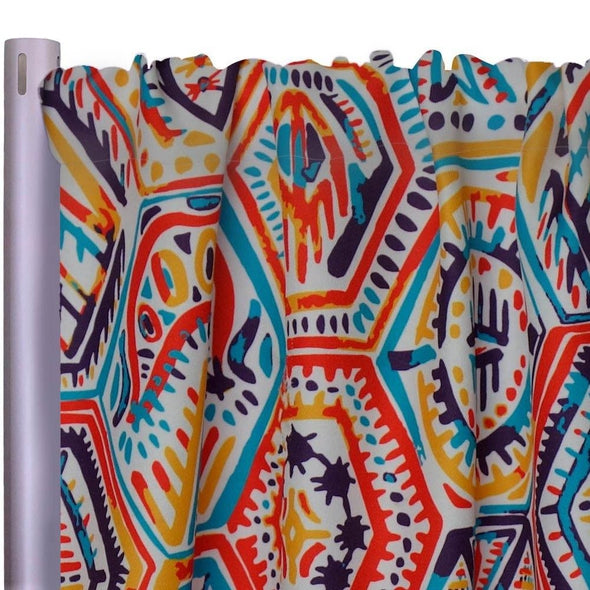 "Bongo Poly Print Drapery Panels (58"" Wide) 1 color"
