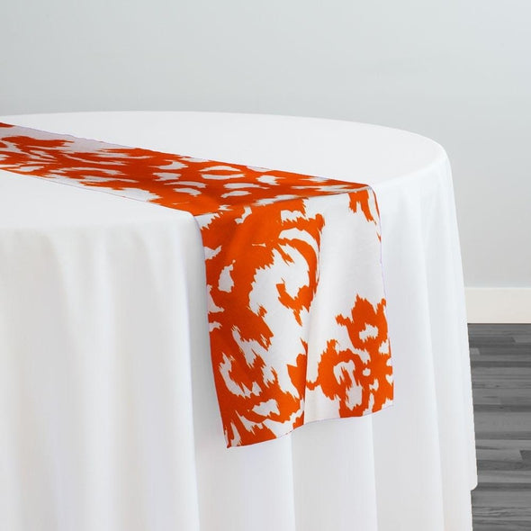 Newport Print (Dupioni) Table Runner in Orange