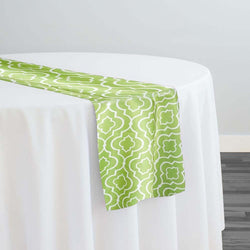 Gatsby Print (Lamour) Table Runner in Avocado