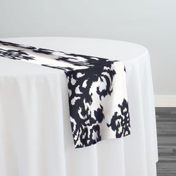 Newport Print (Dupioni) Table Runner in Black
