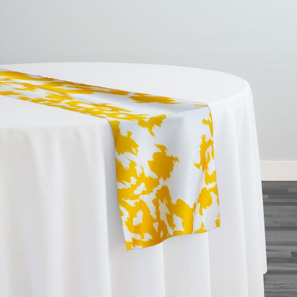 Newport Print (Dupioni) Table Runner in Yellow