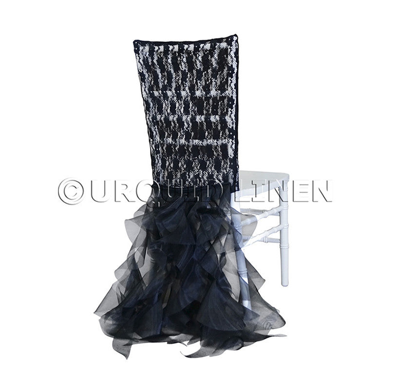 Lace Chair Back Tutu - Black