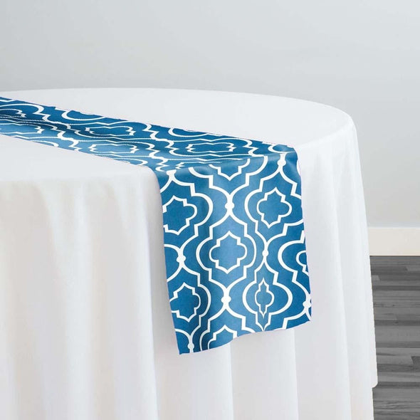 Gatsby Print (Lamour) Table Runner in Teal