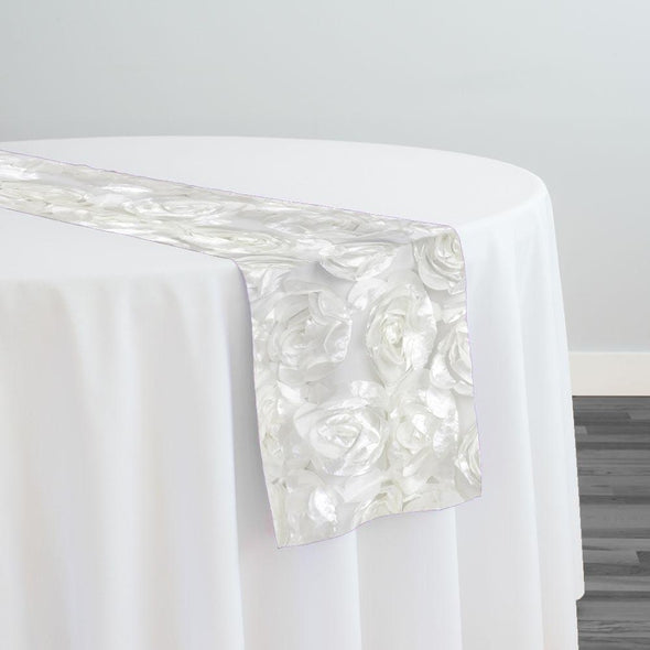 Peony Bouquet Table Runner in Ivory