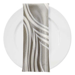 Eclipse Jacquard Table Napkin in Silver