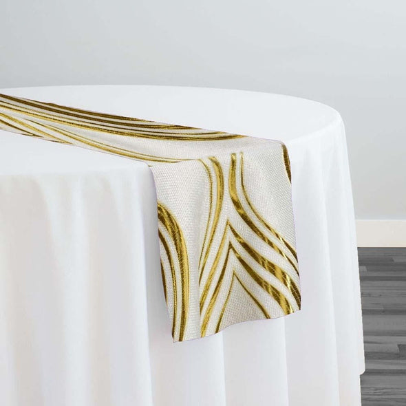 Eclipse Jacquard (Reversible) Table Runner in Gold