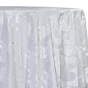 Victorian Jacquard Sheer Table Linen in White