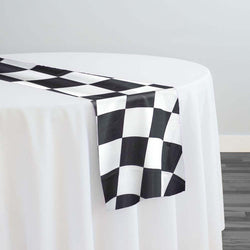 "Lamour Prints Table Runner in 4""x4"" Checker"