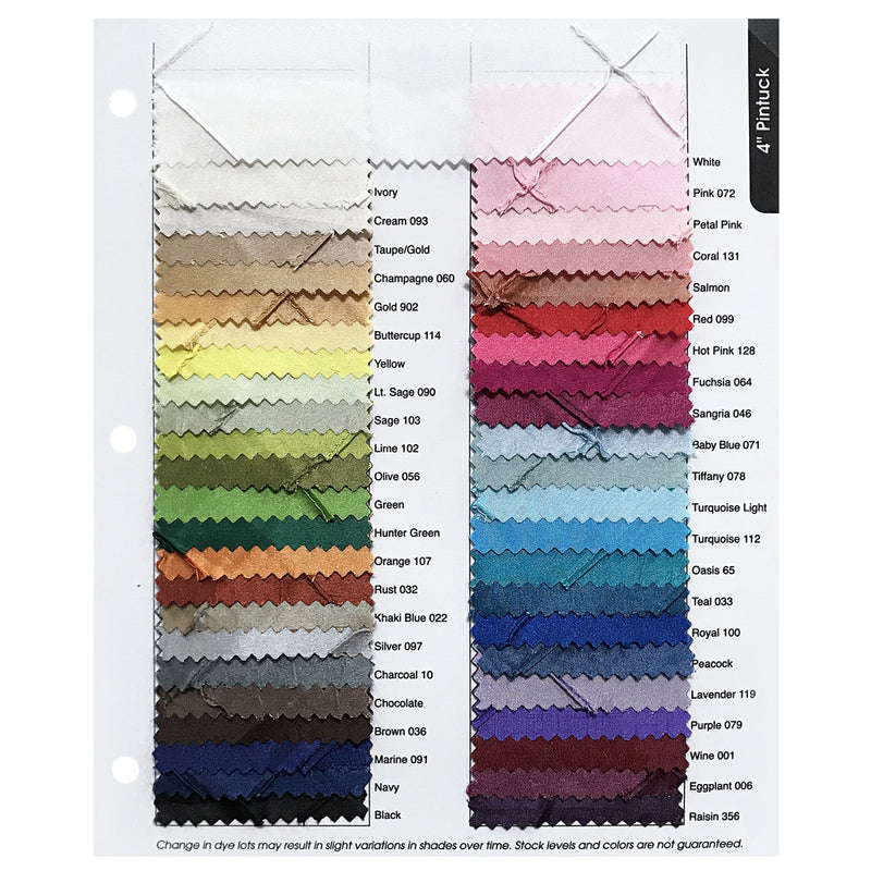 "4"" Pintuck Taffeta Color Card"