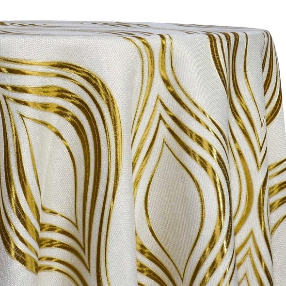 Eclipse Jacquard (Reversible) Table Linen in Gold