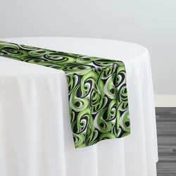 Abstract (Pucci) Table Runner in Limey