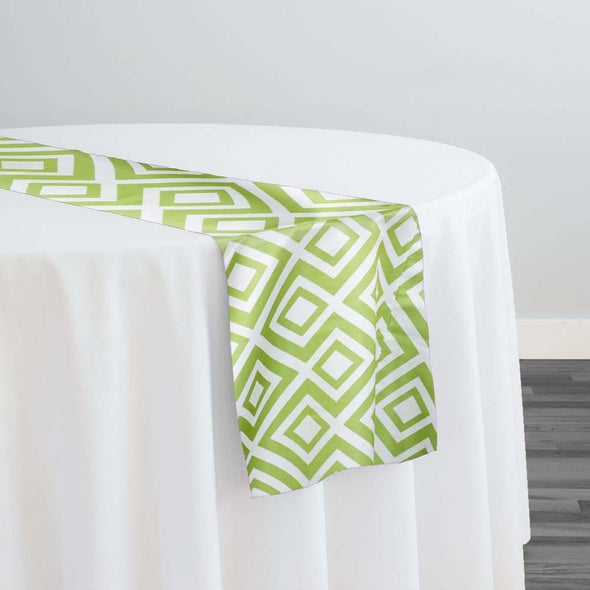 Paragon Print (Lamour) Table Runner in Avocado