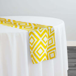 Paragon Print (Lamour) Table Runner in Yellow