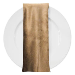 Microfiber Suede Table Napkin in Camel