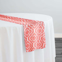 Gatsby Print (Lamour) Table Runner in Coral