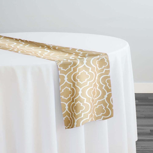 Gatsby Print (Lamour) Table Runner in Taupe