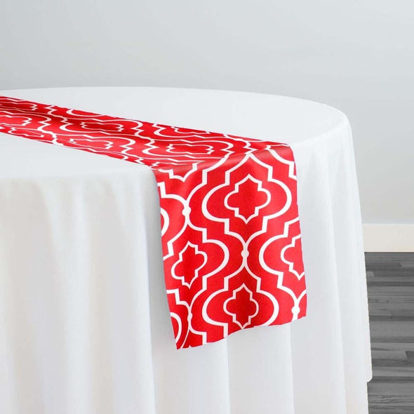 Gatsby Print (Lamour) Table Runner in Red