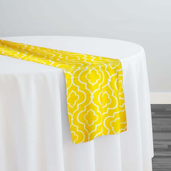 Gatsby Print (Lamour) Table Runner in Yellow