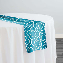 Gatsby Print (Lamour) Table Runner in Jade