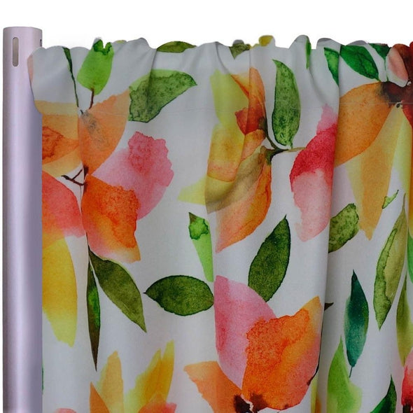 "Blooms Flora (Poly Print) Drapery Panels (58"" Wide) 1 color"