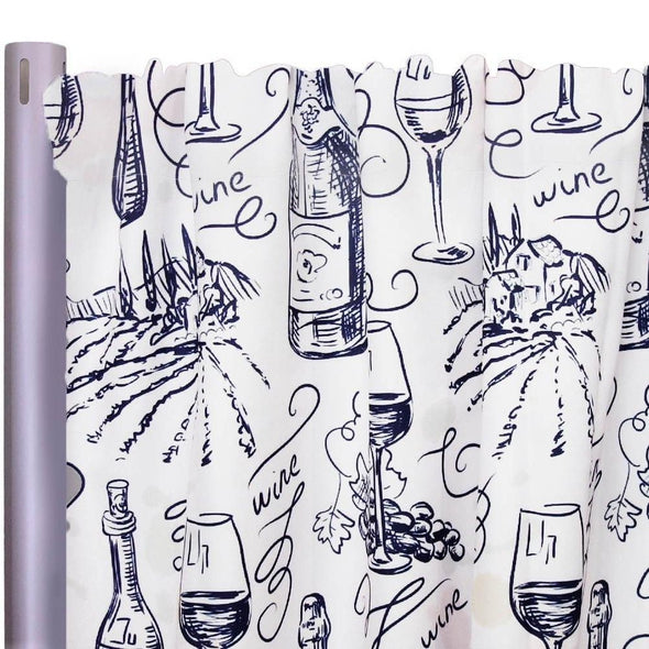 "Vino (Poly Print) Drapery Panels (58"" Wide) 1 color"
