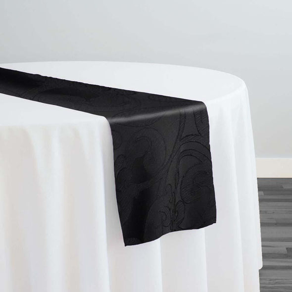 Classic Jacquard Table Runner in Black