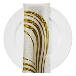Eclipse Jacquard Table Napkin in Gold