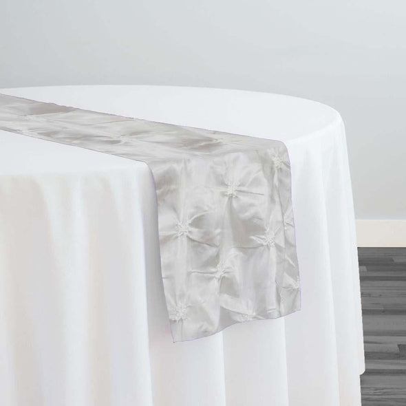 Belly Button (Pinwheel) Table Runner in White