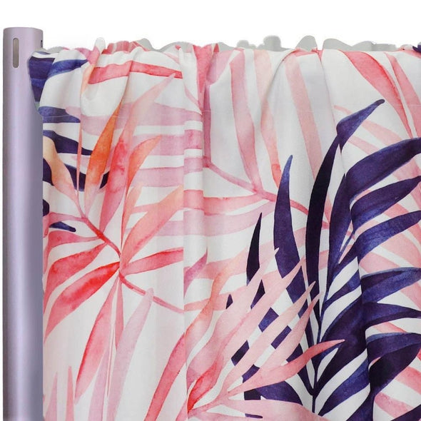 "Pink Botanical (Poly Print) Drapery Panels (58"" Wide) 1 color"