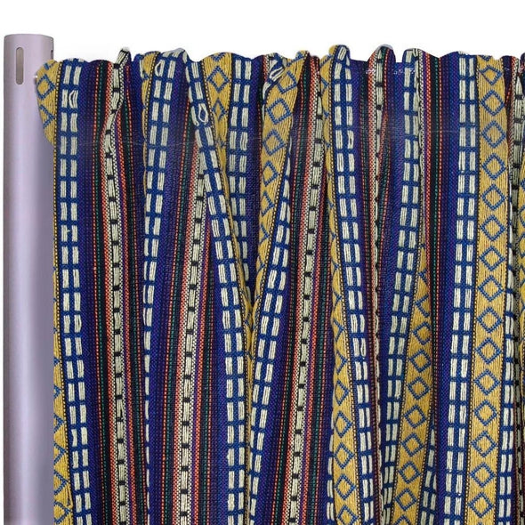 "Ethic Stripe Drapery Panels (58"" Wide) / 1 Print"