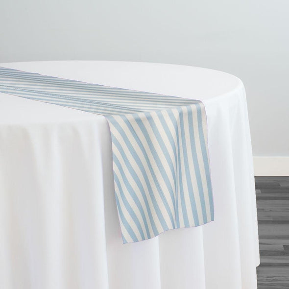 Seersucker Print Table Runner in Blue